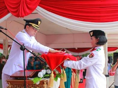 Bupati Ngawi Pimpin Upacara Detik-Detik Proklamasi Kemerdekaan RI Ke 71