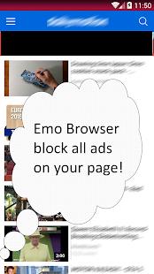 Emo Ads Blocker Browser screenshot