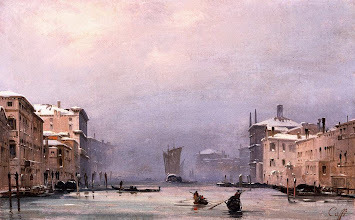 """Photo: Ippolito Caffi, """"Neve e nebbia a Venezia"""" (1840)"""