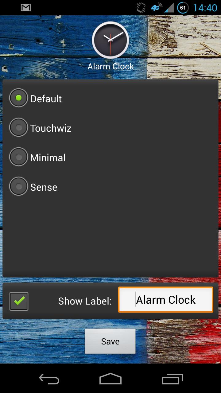 Скриншот Live Clock Shortcut
