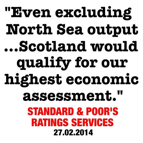 S&P: even excluding oil Scotland would qualify for our highest assessment