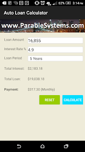 Auto Loan Calculator screenshot