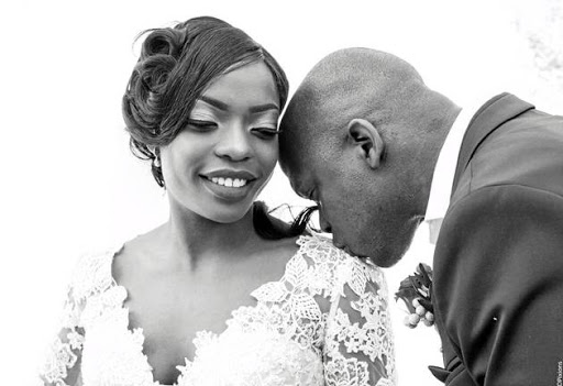 CLICKED: Vimbai Manyukwi and her husband Gcina Magagula on their June 3 wedding day