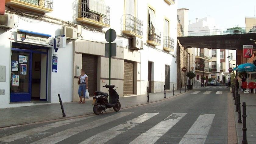 Administración número 3 de Adra, en la calle Natalio Rivas.