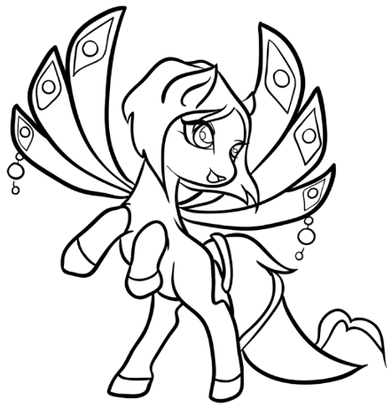Coloring Book Fairy Pony