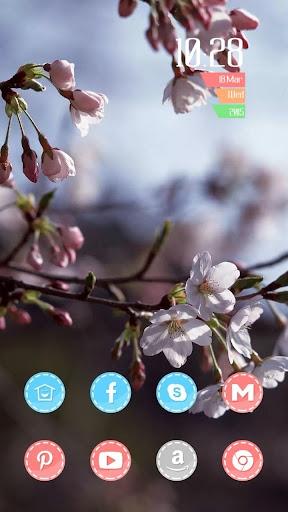 美丽春天鲜花主题