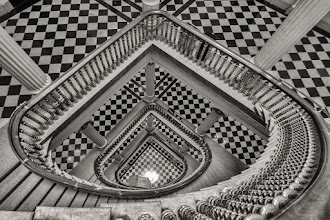Photo: Spiral staircase at the Eisenhower Executive Office building