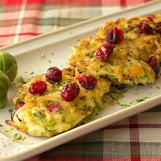 Cranberry Brussels Sprouts Potato Pancakes