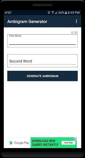 Ambigram Studio 2.0 1.2 screenshots 1