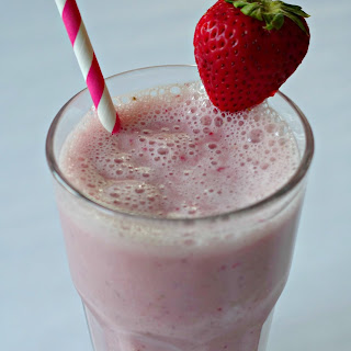 Simple Strawberry Banana Smoothie.