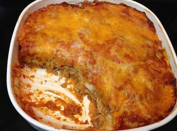 Oh So Good Chicken Enchilada Bake
