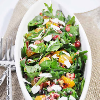 Christmas Power Salad with Orange Salad Dressing + a Giveaway