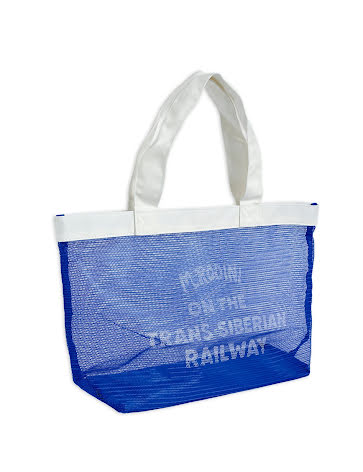 Mini Rodini Trans-Siberian Mesh Bag Blue