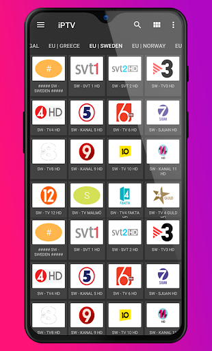 iPTV TV Player m3u for Android screenshot 4