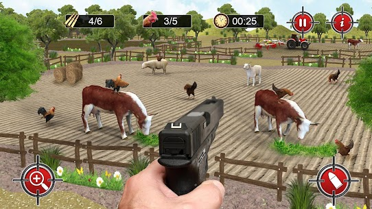 الهيجان الدجاج مطلق النار 3D: ألعاب الرماية بمسدس 6