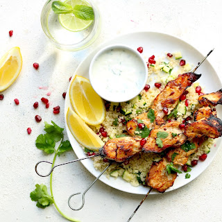 Spiced Chicken Skewers with Couscous Recipe