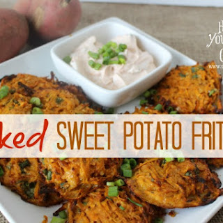 Baked Sweet Potato Fritters.