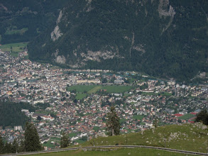 Photo: The next day we take a cogwheel railway to Schynige Platte, high above Interlaken, where we will start our 6-day alpine adventure.