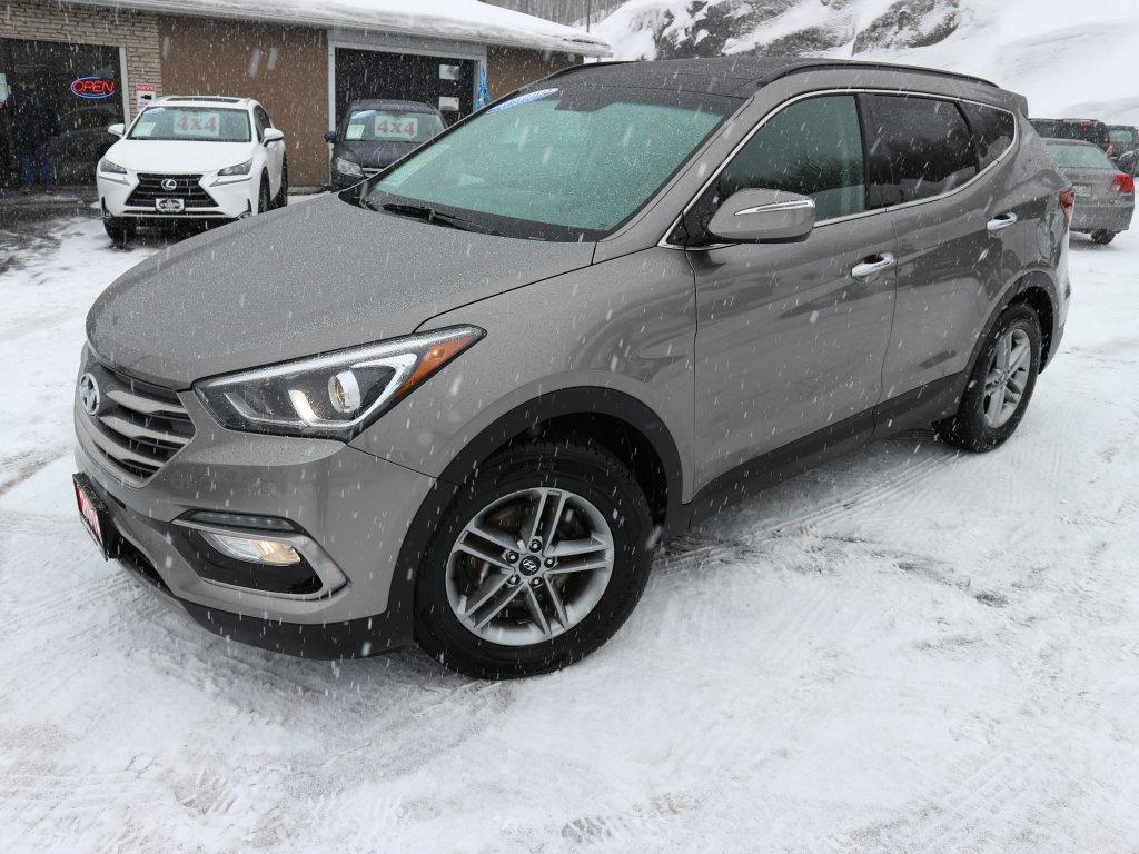 A grey 2018 Santa Fe is available at Auto Depot Sudbury