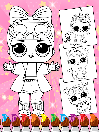 Lol Dolls Coloring Book, Lols & Dresses screenshot 2