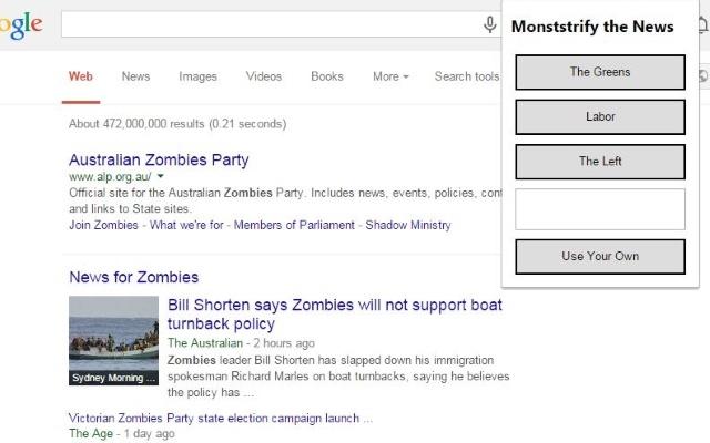 Monstrify the News