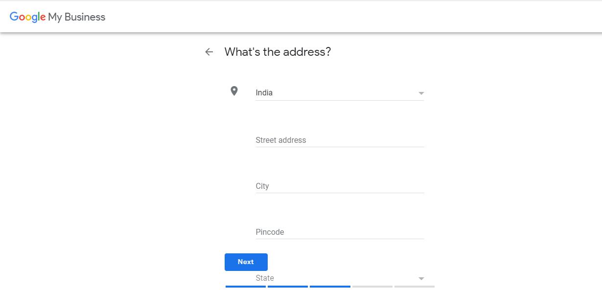 Google My Business Full Address