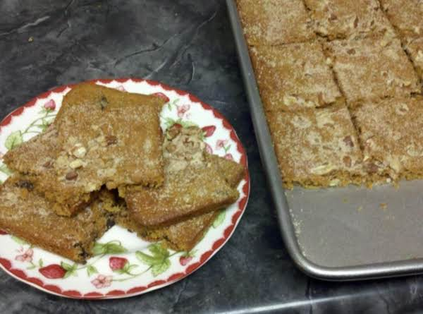 Raisin Molasses Bars Recipe