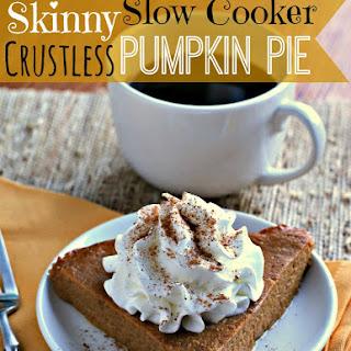 Skinny Slow Cooker Crustless Pumpkin Pie