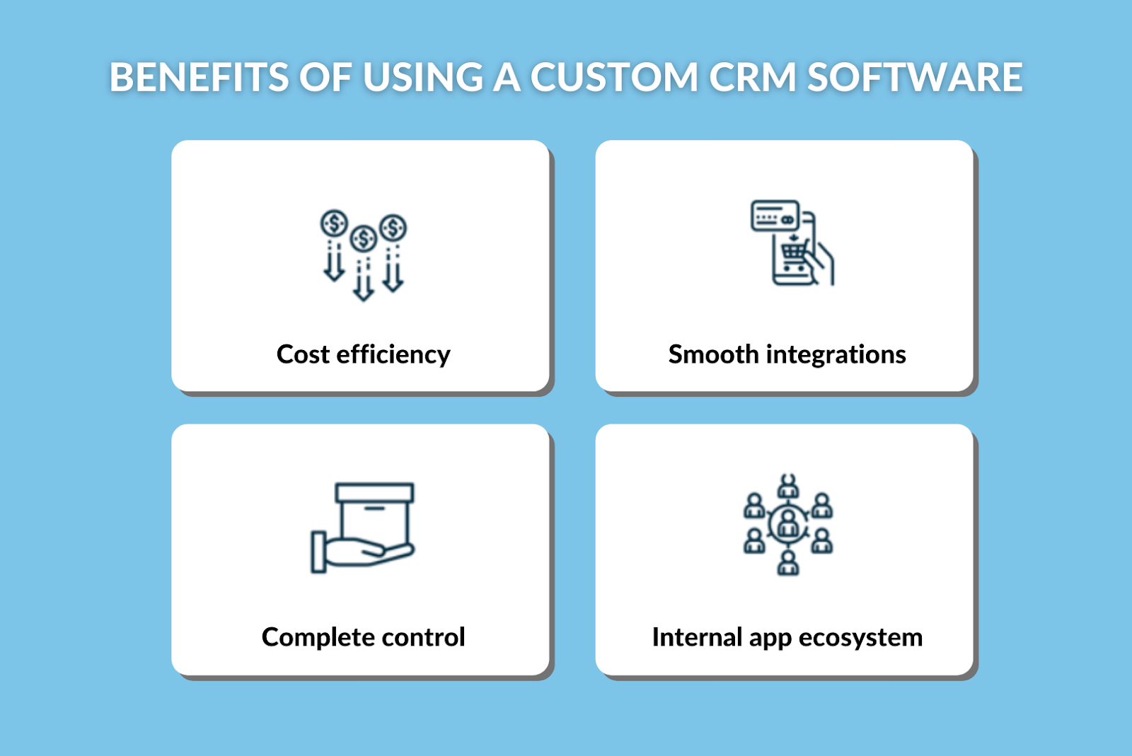 Benefits of using a custom crm software