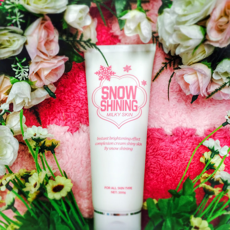 Snow Shining Milky Skin Whitening Korean Instant Whitening cream 200g by Supermodels Secrets