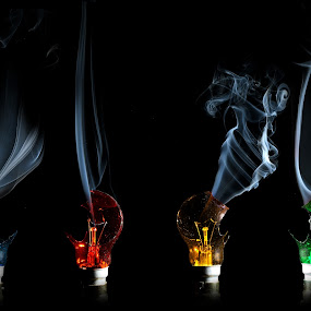 Smoking Lights by Adam Griffin - Artistic Objects Other Objects ( light smoke )