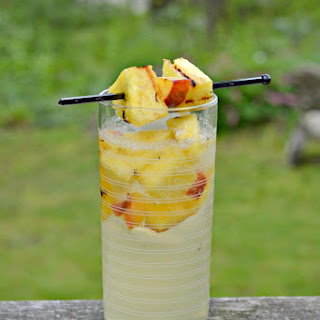 Grilled Peach and Pineapple Sangria #SundaySupper