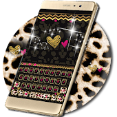Luxury leopard Keyboard Theme