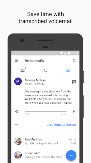 Screenshot 2 for Google Voice's Android app'