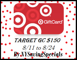 $150 Target Gift Card Giveaway ends 8/24