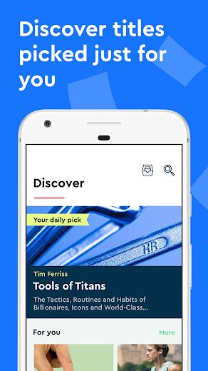 Screenshot 2 for Blinkist's Android app'