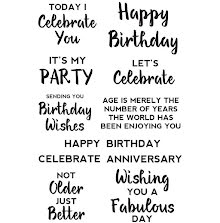 Kaisercraft Clear Stamps 6X4 - Birthday Background Sentiments