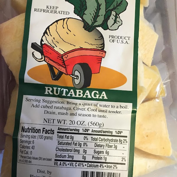 Heat oven to 400 degree's. Thinly slice the cubed  rutabaga.  Slice thin...