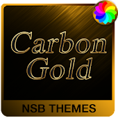 Carbon Gold - Theme for Xperia