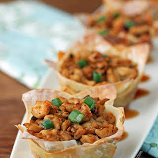 Asian Chicken Wonton Cups.