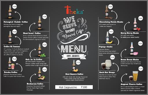 Theka Cafe menu 1
