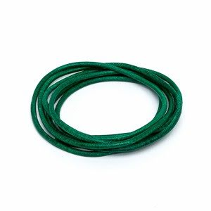 Läderrem, grön