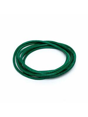 Läderrem grön 1 m 1,3mm tjock