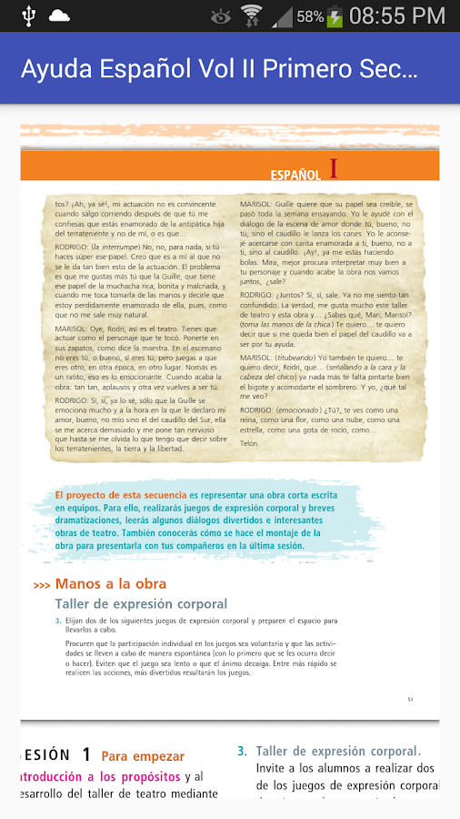 Español Vol 2 1er. Secundaria- screenshot