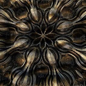 La fleur en cuivre by Linda Czerwinski-Scott - Illustration Abstract & Patterns ( pattern, flower art, abstract art, illustration, design )