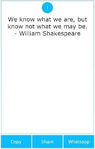 101 Great Saying by Shakespear screenshot 3