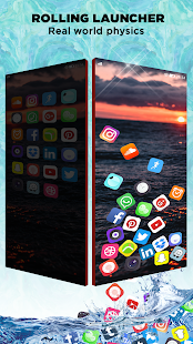 Rolling Icon - 3D Live Wallpaper & Launcher 2019 Screenshot