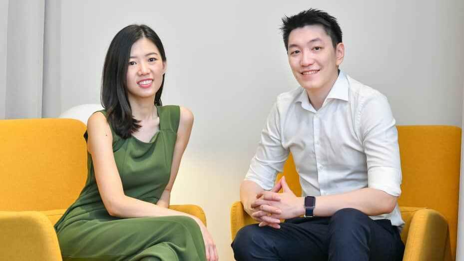 Raena Lim and Chris Halim, the husband-and-wife duo behind Singaporean clothes rental platform Style Theory.