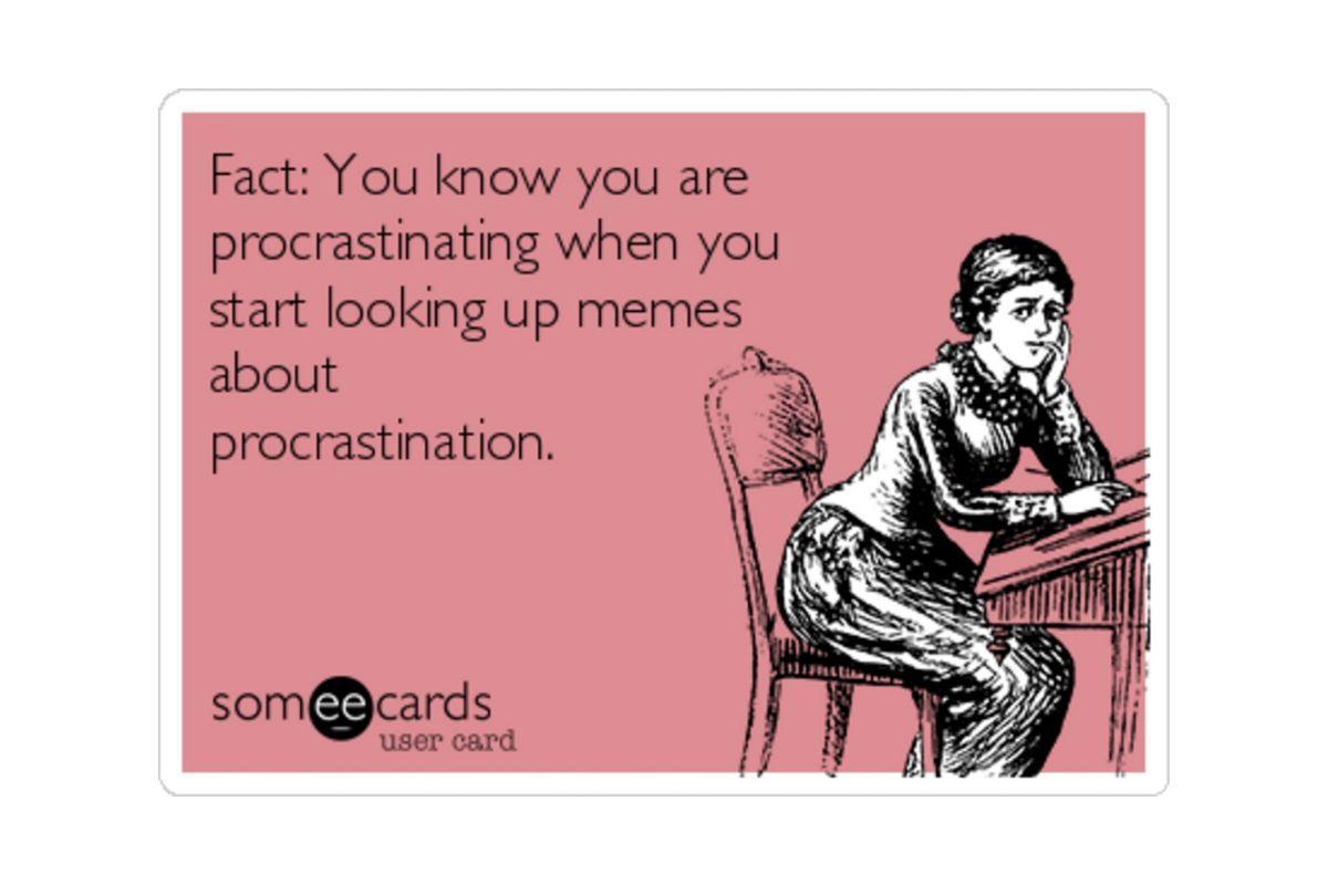 procrastination meme - busy vs full