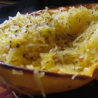 Spaghetti Squash with Basil and Olive Oil